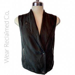 Banana Republic Drapey Black Lyocell Vest